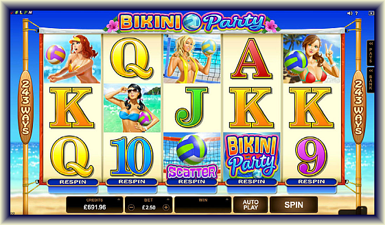 Get as many as 30 bonus free spins in playing biki party online slot