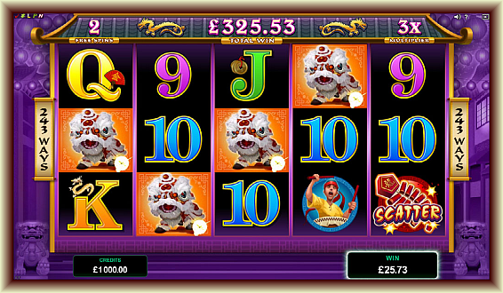 Avail respin bonus in playing dragon dance online slot